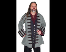 Dress Like A Pirate Original Design Captain Ansell Frock Coat Dove Gray/Black 3X