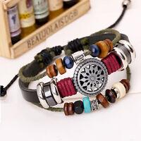 Echt Faux Leder Armband Leather Bracelet,surferarmband Armbänder einstellbar.