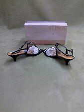 Vintage Flings Black Gold heels size 9