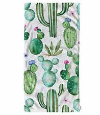 oFloral Cactus Hand Towels Cotton Washcloths with Watercolor Flowers Comforta.