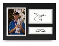 Jim Furyk Signed A4 Photo Display U.S. Open Golf Autograph Memorabilia + COA