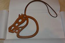 NIB HERMES Paddock Horse Head Leather Bag Charm a5b5edc3495
