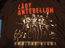 Lady Antebellum Own The Night Tour 2012 2 Sided T Shirt Size XL Black