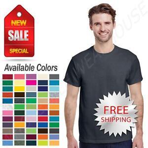 Gildan Heavy Cotton Mens T-Shirt Short Sleeve Crew Neck Tee S-3XL G500 5000
