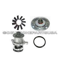 ENGINE WATER PUMP + GASKET + RADIATOR FAN + VISCOUS FAN CLUTCH 4 for BMW E36 E30