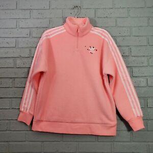 Adidas Originals Half Zip Polar Fleece Sweatshirt GK7169 Womens Size XS Pink $90