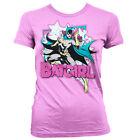 T-shirt FEMME Rose BATGIRL Taille S M L Girlie dc comics batman wonder woman top