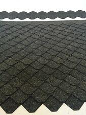 1 Set Dachschindeln Schiefer (55 mm) grau 20 Streifen Pappe
