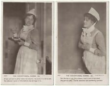 2 Real Photograph Postcards The Exceptional Nurse 1 and 2 Medical