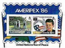 AMERIPEX '86 UNITED NATIONS YEAR OF PEACE JFK US PRESIDENT MNH STAMP SHEETLET