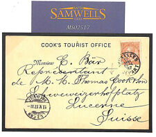 MS2517 1897 Belgium THOMAS COOK *Tourist Office* Stationery Card Switzerland