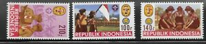 Indonesia 1986 #1286A-C Boy Scouts Girl Guides Set MNH (S18)
