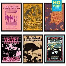 Valvet Underground 1968 Concert VINTAGE BAND POSTERS Rock Travel Old Advert #ob