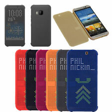 Appel Point Dot View Flip Case Coque Etui Housse Protection HTC One 2 M8/9 E8/9+