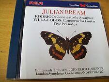 JULIAN BREAM RODRIGO CONCERTO DE ARANJUEZ VILLA LOBOS CONCERTO FOR GUITAR CD RCA