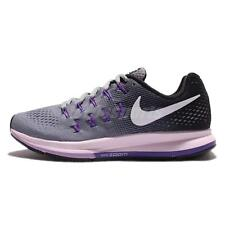 Nike Air Zoom Pegasus 33 Grey Purple Women's Running Training Shoes 831356 003