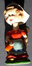 1950-60s Era Cute little Dutch Girl with basket Nodder/Bobbin head doll-Beauty!