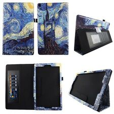 Starry Painting Fit for Amazon Fire HD 10 10.1 Inch Tablet Case Cover ID Slots
