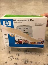 NEW HP Photosmart A516 Compact Photo Printer Includes Paper Missing Cord