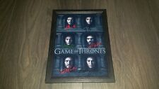 "GAME OF THRONES CASTX6 SIGNED FRAMED A4 12""X8"" PHOTO POSTER MANY FACED GOD S6"