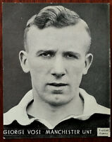 George Vose, Manchester United, Topical Times, Black & White Photograph