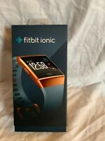 fitbit ionic smart Sorts watch burnt orange and blue. Running/jogging/fitness