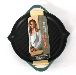 Cravings By Chrissy Teigen 11 In Enameled Cast Iron Grill Pan Hand Wash Only