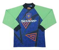 Manchester United 1994-96 Authentic Gk Shirt (Good) L.BOYS Soccer Jersey