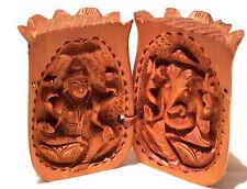 Reisealtar Indien Shiva und Ganesha in der Lotusblüte Holz geschnitzt