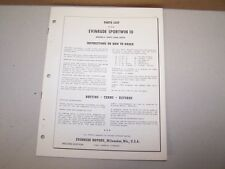 1956 Evinrude Outboard Factory Parts List Sportwin 10 Boat Motor