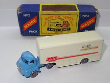 matchbox major pack BEDFORD WALLS ICE CREAM LORRY - MP2 M 2 BOXED