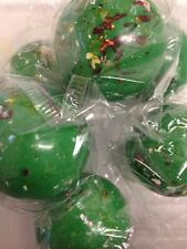"""Lot of 2 Giant Jawbreakers 2 1/4"""" Green Old Fashioned Nostalgic Candy"""