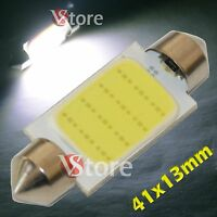 2 LED Festoon 41mm COB SMD 12 Chip BIANCO Lampade Luci Lampadine Interno Targa