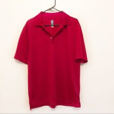 PGA Tour Apparel Men's Red Golf Polo Short Sleeve Tee Size Large