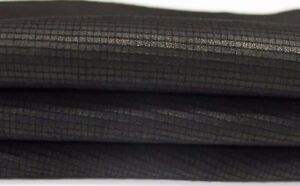 NATURAL BLACK WASHED Squars engrave Italian Lambskin leather hides 5sqf #A3200