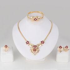 CW_ Women's Wedding Rhinestone Ring Earrings Necklace Bracelet Jewelry Set Fashi