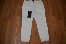 NWT Womens NINE WEST JEANS Gramercy White Frayed Hem Ankle Jeans Size 14