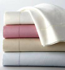Sferra ELYSE Queen 4 PC Sheet Set Rose Pink 300 TC Egyptian Cotton Sateen NEW