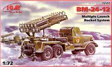 ZIL 157 BM-24-12 HEAVY ROCKET LAUNCHER  (SOVIET MARKINGS)1/72 ICM