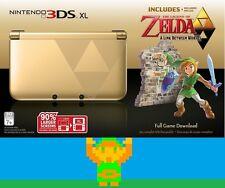 Legend of Zelda 3DS XL (Gold/Black) Limited Edition-Triforce Design on the 3 DS