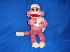 "Sock Monkey Pink Plush Street Players 2011 Item # 03772 17"""