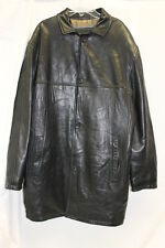 Marc New York Long Black Leather Jacket Men's Size Large L Excellent Used Cond