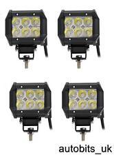4 un. 12 V 24 V 18 W CREE LED Luz de trabajo lámpara de haz puntual 4WD Jeep SUV ATV Camión 4x4