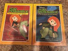 KIM POSSIBLE DVD COMPLETE SEASON 1 & 2 DISNEY MOVIE CLUB EXCLUSIVE NEW REWARDS