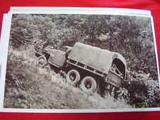 1941 STUDEBAKER ARMY TRUCK    11 X 17  PHOTO   PICTURE