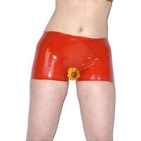 LATEX Gummi Hotpants ouvert* rubber Slip Shorts * Gr. S * rot glänzend* Panty