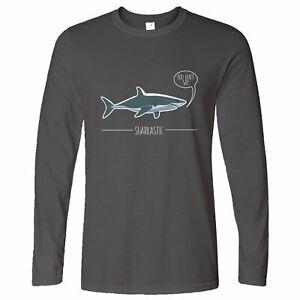 Shark Pun Long Sleeve Sarcastic Sharkastic Joke Ocean Sea Wildlife Sassy Funny