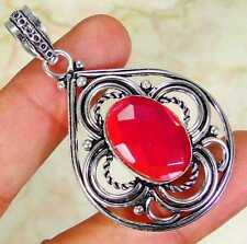 Pink Mystic & 925 Silver Handmade Fashionable Pendant 53mm  GiftBox &SilverChain