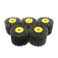 "4.7"" 120mm Nylon Abrasive Wire Polishing Drawing Wheel Brush for Metal 4/5"" Hole"