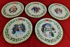Lenox Annual Holiday Christmas Collector's 5 Plates 1996,1997,1998,2000 & 2001